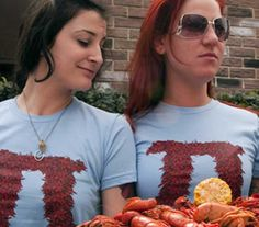Crawfish Pi Tshirt From Dirty Coast and Bourbon & Boots