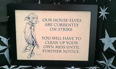 Harry Potter Dobby A4 Framed Picture, Must Have For All Fans - Amazing Detail