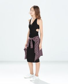 ZARA - NEW THIS WEEK - CUT-OUT TUBE DRESS