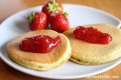 Kjempegode lapper som er raske å lage og helt uten fett! Norwegian Food, Crepes, Food Styling, Food Inspiration, Nom Nom, Cheesecake, Brunch, Food And Drink, Cooking Recipes