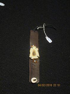 Soft Natural Brown Deer Leather Bracelet With Custom Real Whitetail Deer Antler Slab Antler Art, Antler Necklace, Medicine Bag, Diy Jewelry, Unique Jewelry, White Tail, Deer Antlers, Natural Brown, Personalized Items