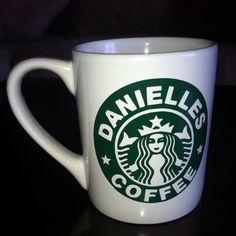 Personalized Starbucks coffee mug  by PrincessBellasBoutiq on Etsy- I NEED this!!!!! Thanks @Rebecca Gilman!!!