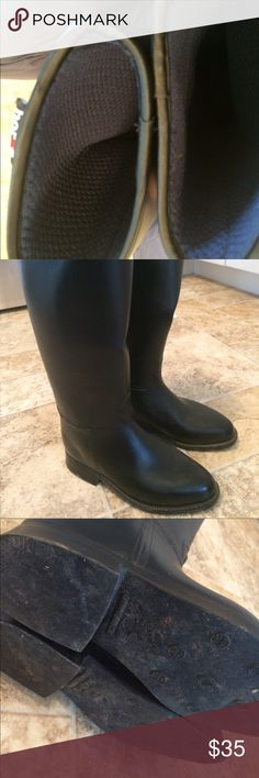 Horze tall rubber horse riding boots Horseback riding equestrian boots Ladies size 5. Worn like 5 times. Horze Shoes Heeled Boots