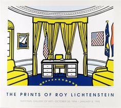 The Prints of Roy Lichtenstein, National Gallery of Art Poster by Roy Lichtenstein on artnet Auctions
