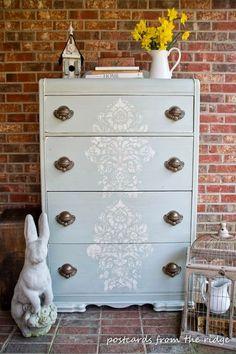 Vicky's Home: 12 ideas para decorar con Stencil /12 Ideas for decorating with Stencil