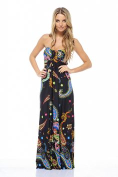 Midnight Paisley Maxi Dress $46. Love this!
