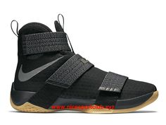 timeless design 3fc67 76260 Nike LeBron Soldier 10 Prix Homme Chaussures BasketBall Pas Cher  Black Black-Gum Light