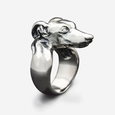 Sterling Silver Greyhound Ring by MAVAStyle on Etsy