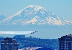 Seafair week in Seattle when the Blue Angels always show up & perform for us!