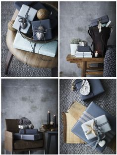 Nordic-Bliss-Scandinavia-CHristmas-Nordic-wrapping-decorations-grey-blue-ribbon-gifts