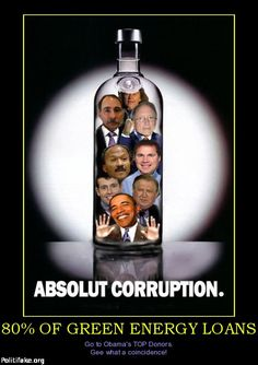Absolute Corruption: 80% of Green Energy loans go to Obama's TOP donors. And the Media refuses to report on it.  **Read More:  www.thegatewaypun...