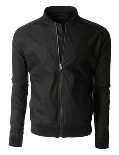 LE3NO Mens Lightweight Windbreaker Fully Lined Zip Up Bomber Jacket | LE3NO