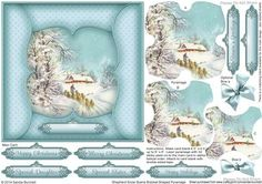 3D Shepherd Snow Scene Bracket Shaped Pyramage on Craftsuprint designed by Sandie Burchell
