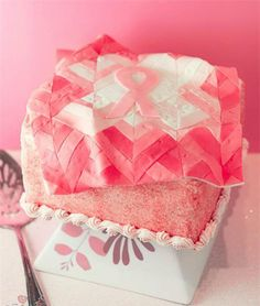 Breast cancer ribbon cake