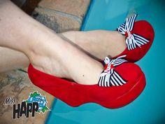 Tattoo Rockabilly Shoe Bow clips by MissHapp on Etsy, $19.00