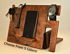 iPhone Dock iPhone Docking Station iPhone by DrapelaWoodworks