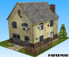 PAPERMAU: Desktop Architecture - More One Village House Paper Modelby Papermau - Download Now!