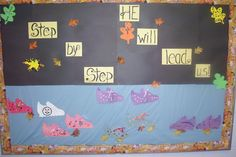 Angels Of Heart: Church Art- Pumpkin art and Fall bulletin boards  Step by Step he will lead us