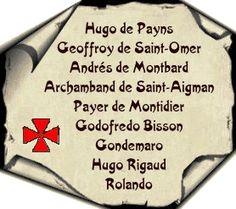 Los 9 Caballeros fundadores de la Orden del Temple.