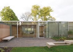 Reiach and Hall adds walled gardens to Maggie's Centre Lanarkshire.