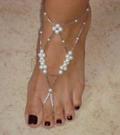 Barefoot Sandals - Princess Collection No.8 via Etsy