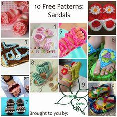 Manda Nicole's Crochet Patterns: 10 Free Patterns - Sandals: