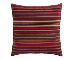 Cojín de algodón, rojo y multicolor - 45x45 cm