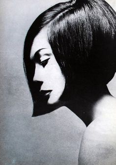 Vogue, October 1963 Photographer: Terence Donovan Model: Nancy Kwan Hair: Vidal Sassoon  Via maliciousglamour