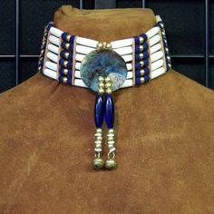 Native American Bone Chokers | Lost River Trading Co. Native American Wedding, Native American Regalia, Native American Clothing, Native American Fashion, American Indians, Native Fashion, Pow Wow, Beaded Choker, Beaded Jewelry