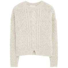 Mango Chunky Knit Jumper, Pastel Grey (€48) ❤ liked on Polyvore featuring tops, sweaters, gray sweater, pastel sweater, grey long sleeve sweater, textured sweater and cable jumper