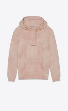 """Purchase """"Saint Laurent Rive Gauche"""" Tie & Dye Hoodie featured by Saint Laurent in sand pink. - Scroll down your favorite shopping street. Ysl, Saint Laurent Shirt, Streetwear, Tie Dye Fashion, Tie Dye Hoodie, Hoodie Outfit, Swagg, Hoodies, Sweatshirts"""