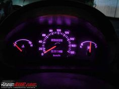 Purple interior lights #car #dashboard #purple