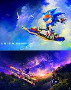 Sonic art via The Otaku.com