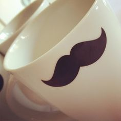 """Good morning ! Une idée à piquer et réaliser avec le pochoir moustache """"Made for You"""" ;-)"""