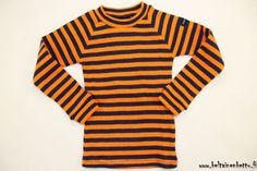 Moonkids pitkähihainen paita - sininen/oranssi - Keltainen Kettu