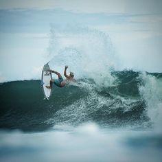 @jackfreestone curbs his enthusiasm in Bali yesterday with #Larry. Photo: @corey_wilson #SURFINGunion