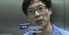 Yoo Jae Suk and his VJ Kwon Ryul friendship ;D  GIF Running Man