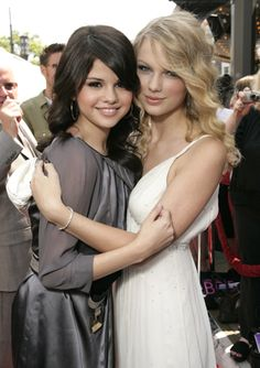 selena gomez and taylor swift. I love both!!!! Taylor Swift is my favorite singer!!!