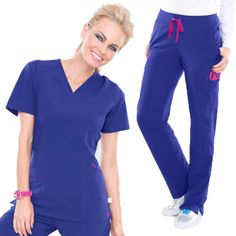 This athletic-inspired scrub set from Smitten will work hard while showing off your playful side. Dr Orders, Scrubs Uniform, Scrub Life, Womens Scrubs, Scrub Sets, Trending Now, Work Wardrobe, Work Fashion, Work Hard