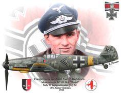 """Messerschmitt Bf 109G-6 JG 52  Lieutenant-General Gerhard """"Gerd"""" Barkhorn"""