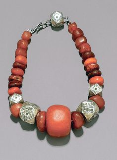 Sudanese silver and coral necklace. Est. 1,600 - 1,800CHF (June/05)