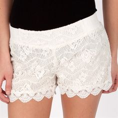 Miss Me Womens Contemporary Lace Pull On Short #VonMaur #MissMe #Lace #Shorts