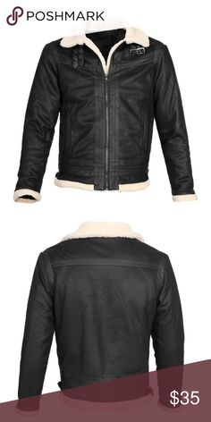 Men's Black Fashion Sherpa Detail Jacket NWT NWT 100% Polyester Sherpa Detailing quilted lining. Available in sizes: M, L, XL & XXL. Jackets & Coats