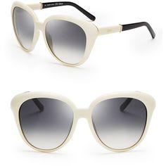 Chloé Oversized Cat Eye Sunglasses ($346) found on Polyvore