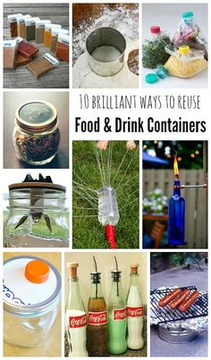 Recycling Projects ~ 10 Brilliant Ways To Use Empty Food And Drink Containers - recycling containers Recycling Containers, Drink Containers, Recycling Bins, Recycling Projects, Recycle Cans, Ways To Recycle, Recycle Things, Diy Kitchen Projects, Cool Diy Projects