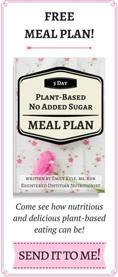Enter your name and email below to get a head start on creating your healthy lifestyle with a free copy of my 5 Day Plant-Based No Added Sugar Meal Plan + exclusive insights about enrollment to The School of Health and Happiness!