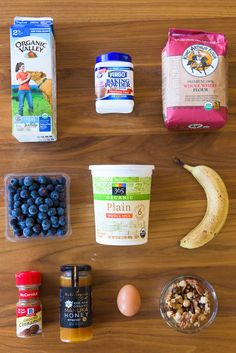Here is everything you need to make the smoothie pancakes:
