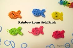 How to make Rainbow Loom Goldfish Charms. Somewhat hard to follow at first, but turns out very nice! I love her eye design on the goldfish!!!! It is easy compared to some of the other character charms.