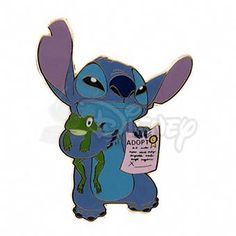 DISNEY STITCH with Frog Jumbo LE 100 Pin