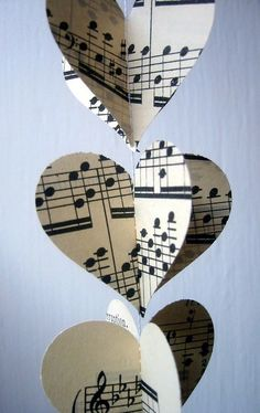 Sheet music garland... perfect for studio or music room